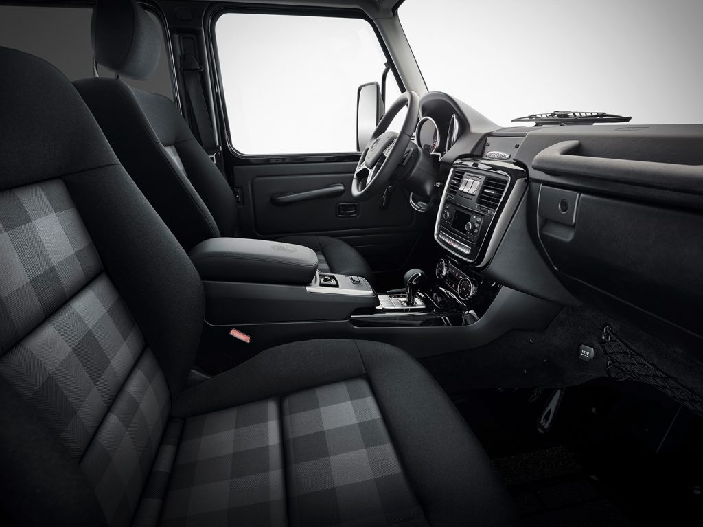 G 350 d Professional har fått mønstret seter.