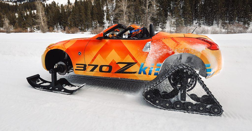 Er det en bil eller snøscooter? (Alle foto: Nissan)