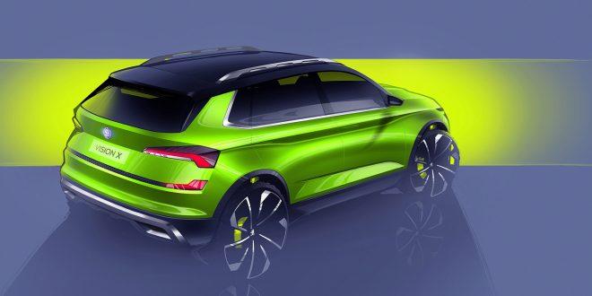 Dette er en kompakt hybrid-SUV fra Skoda, Vision X. (Alle foto: Skoda)