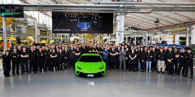 En grønn Huracàn ble nummer 10.000. (Alle foto: Lamborghini)
