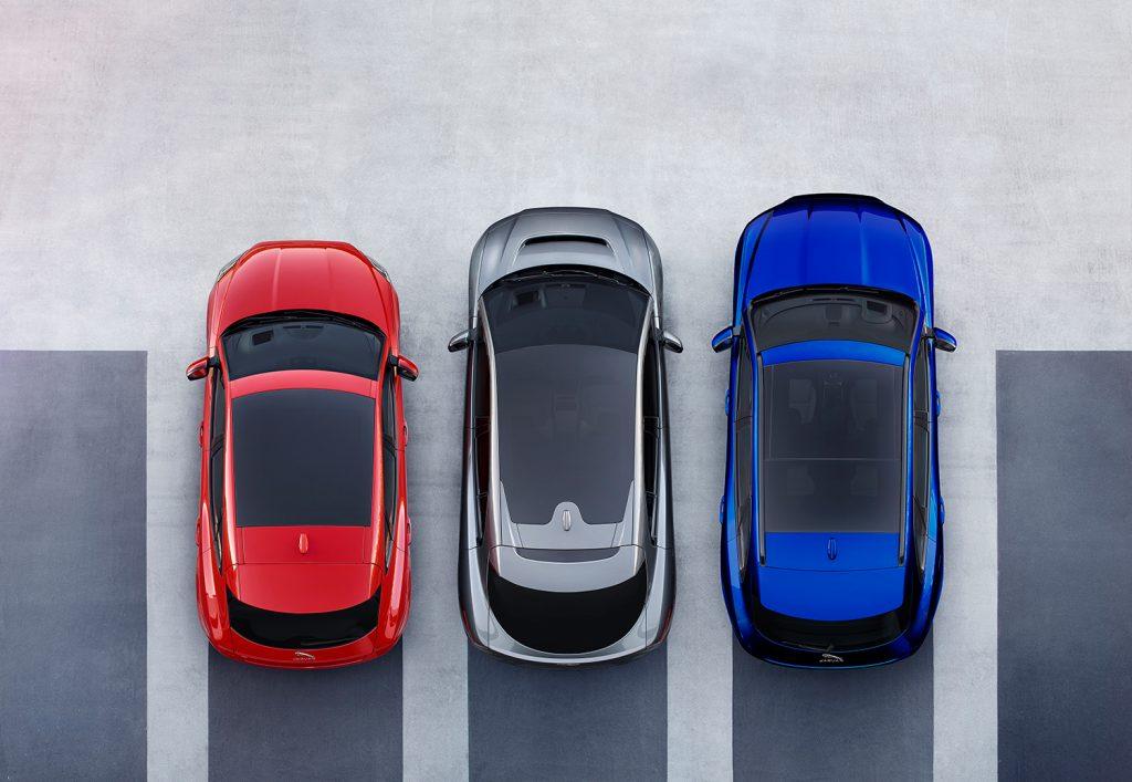Fra venstre E-Pace, I-Pace og F-Pace. (Alle foto: Jaguar)