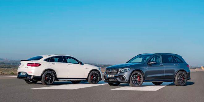 Mercedes har fått fart på salget av GLC, og det ble registrert 314 nye slike i april. Her AMG-utgavene. (Foto: Mercedes)