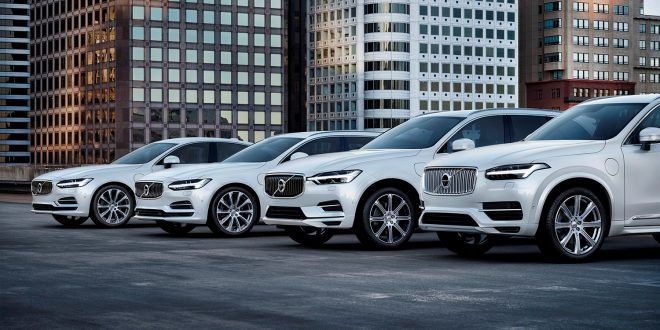 Her er Volvo S90, V90, XC60 og XC90 med T8 Twin Engine AWD Inscription. (Foto: Volvo)