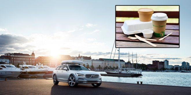 Volvo går til kamp mot engangsplast som kopper og bestikk. (Foto: Volvo)