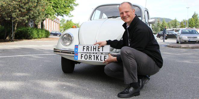 Nå er personlig skilt også lov å kjøre med i Sverige og Danmark. (Foto: Frøydis Tornøe, Samferdselsdepartementet)