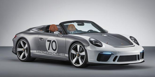 Porsche feirer seg selv med en konseptversjon av Speedster. (Alle foto: Porsche)
