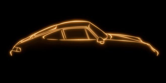 Porsche feirer seg selv med en gullbil. (Foto: Porsche)
