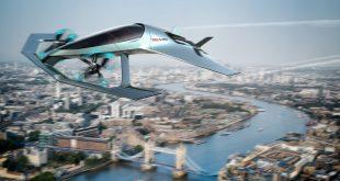 Aston Martin vil ta snarveien over bilkøene med dette selvpilotende flyet. (Begge foto: Aston Martin)