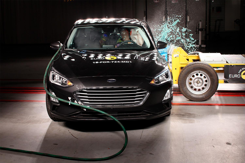 Ford Focus imponerte i kollisjonstesten. (Foto: Euro NCAP)