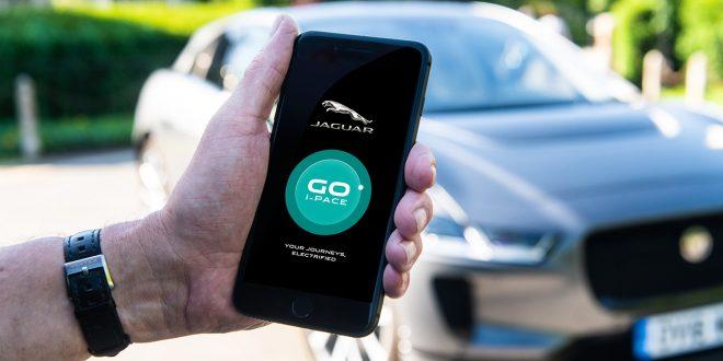 Denne appen skal vise bileierne hvordan det hadde vært om bilen de kjørte var en I-Pace. (Alle foto: Jaguar)