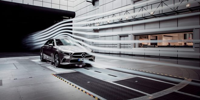 Den nye A-klassen har ifølge Mercedes satt ny verdensrekord rundt aerodynamikk. (Alle foto: Mercedes)