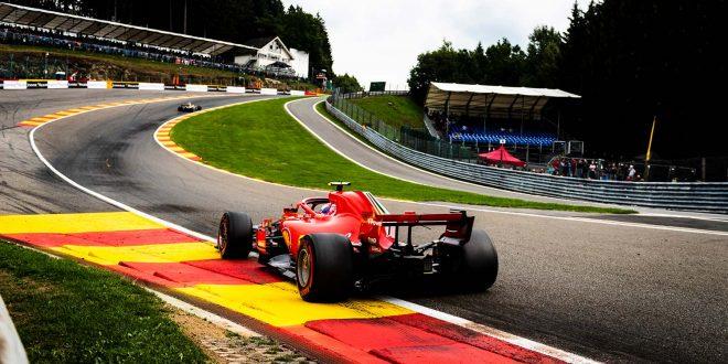 Sebastian Vettel i Ferrari sørget for at formel 1 tok tilbake banerekord på Spa. (Foto: Ferrari)