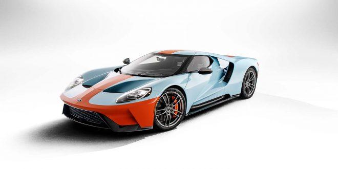 Ford kommer med en spesialversjon av GT som er lakkert som Gulf Oil-bilene. (Alle foto: Ford)