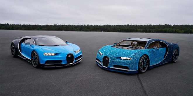 Lego-varianten er Bugatti Chiron ser ganske så ekte ut. (Foto: Lego)