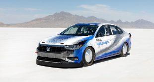 Denne bilen satte en ny fartsrekord. (Alle foto: VW)