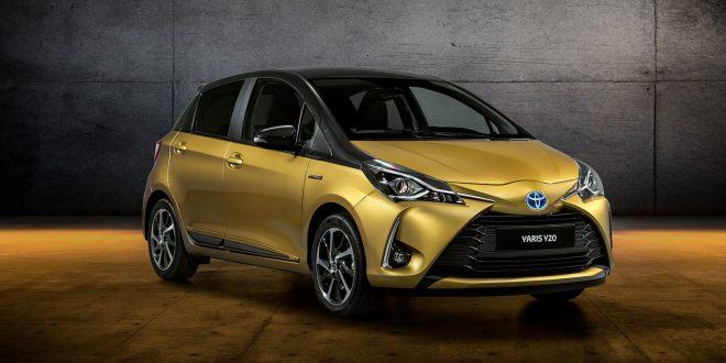 Toyota feirer 20 år med Yaris med en skikkelig gullbil kalt Y20. (Alle foto: Toyota)