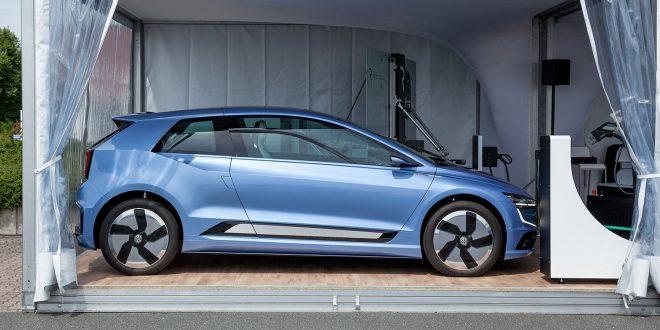 Volkswagen er ikke akkurat kjent for sine hydrogenbiler, men de forsker på det området også. (Foto: VW)