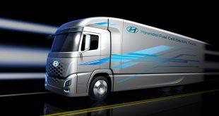 Hyundai skal levere 1.000 hydrogenlastebiler. (Illustrasjon: Hyundai)