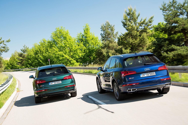 Audi har trøbbel rundt SQ5, som de har avsluttet prpduksjonen av. Den vil ikke starte opp igjen før de kommer som 2019-modeller. (Foto: Audi)