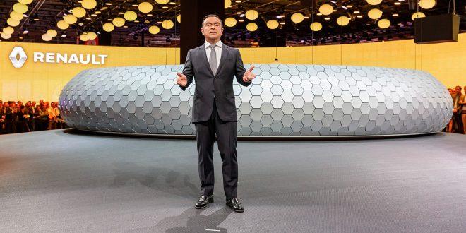 Carlos Ghosn har vært den store edderkoppen i nettverket mellom Renault, Nissan og Mitsubishi. Nå er han arrestert. (Begge foto: Renault)
