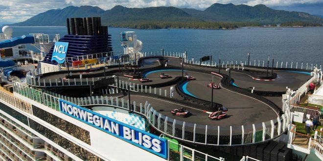 Sjekk hva som er på toppen av dette cruiseskipet. (Alle foto: NCL)