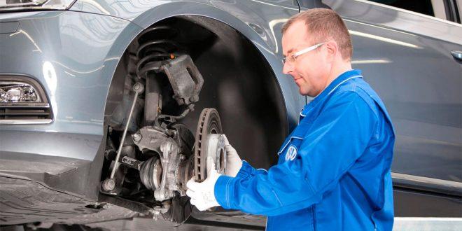 Mange får seg en negativ overraskelse etter å ha vært på verkstedet, nemlig rustne bremser. (Foto: VW)