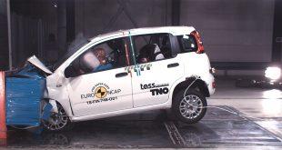 Fiat Panda klarte kunstykket å få 0 stjerner i Euro NCAP's kollisjonstest. (Begge foto: Euro NCAP)