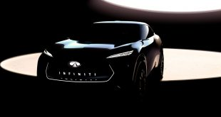 Dette er det første bildet av Infinitis nye el-SUV. (Alle foto: Infiniti)
