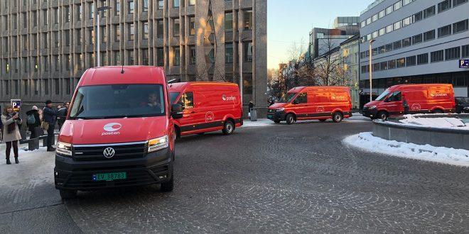 Posten har nå fått sine første store elektriske varebiler. (Alle foto: Aleksander Alnes, Posten)