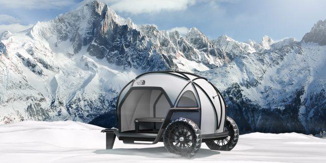 Dette er en teltvogn du kan dra med deg opp i vinterfjellet. (Alle foto: BMW)
