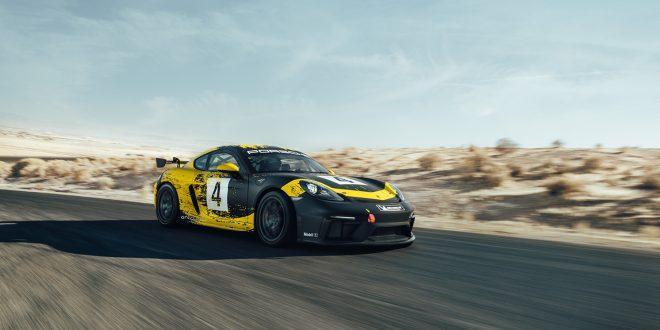 Porsche har laget en racingbil av blant annet hamp. (Alle foto: Porsche)