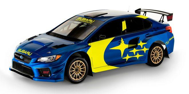 Subaru Motorsport har lakkert 2019-modellen av Subaru WRX Sti slik. (Alle foto: Subaru)