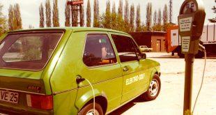 Volkswagen har i en årrelle laget elektriske Golfer. Her fra 1976. (Alle foto: VW)