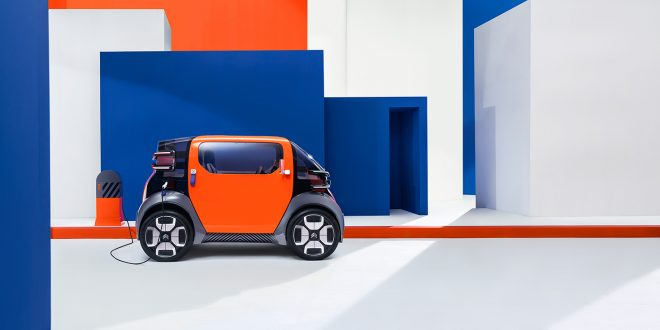 Ami One Concept er en elektrisk mopedbil med toppfart på 45 km/t. (Alle foto: Citroën)