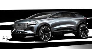 Audi skal vise fram nok en elbil i neste måned, Q4 e-tron Concept. (Alle foto: Audi)