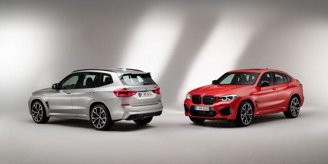 BMW lanserer nå to nye M-modeller, X3 M og coupélignende X4 M (den røde). (Alle foto: BMW)