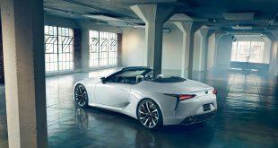 Lexus viser nå fram en toppløs LC. (Alle foto: Lexus)