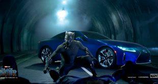 Lexus er med i en ny superheltfilm kalt «Black Panther». (Foto: Toyota)