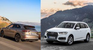 Porsche og Audi går sammen om å lage elbiler. Her Cayenne og Q7. (Foto: Porsche/Audi)