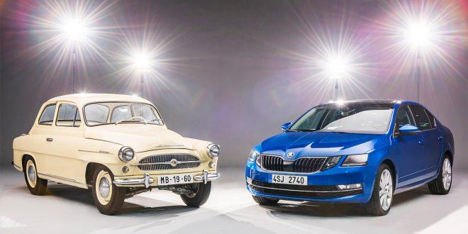 Det er litt forskjell på disse to Octavia-modellene. (Alle foto: Skoda)