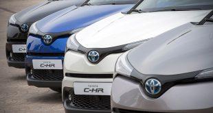 Toyota C-HR er en hybrid, men Toyota vil komme med rene elbiler - men først om noen år. (Foto: Toyota)