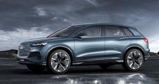 Audi viser nå fram en Q4, og den er elektrisk. Bilen er planlagt lansert mot slutten av 2020. (Alle foto: Audi)