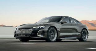 Audi viser fram den tredje e-tron-modell, e-tron GT. (Alle foto: Audi)