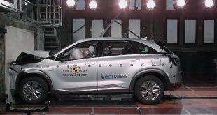 Hydrogenbilen Hyundai Nexo har nå blitt krasjtestet. (Foto: Euro NCAP)