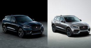 Jaguar byr nå på to nye modeller av F-Pace, 300 Sport (t.v.) og Chequered Flag. (Alle foto: Jaguar)