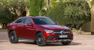 Mercedes viser nå fram en ny utgave av GLC Coupé. (Alle foto: Daimler)
