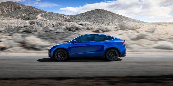 Tesla viser nå fram den kompakte SUVen Model Y. (Alle foto: Tesla)