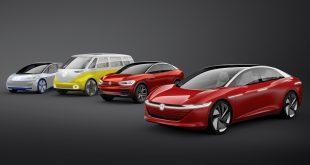 Volkswagen-gruppen skal lansere 70 nye elbilmodeller innen 2028. Her er fire ID.-modeller fra Volkswagen. (Begge foto: VAG)