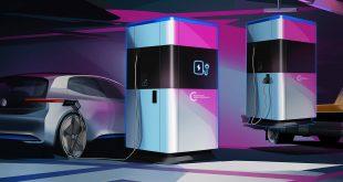 Volkswagen kommer nå med mobile ladestasjoner. (Alle foto: VW)