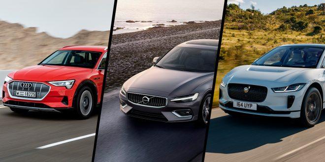 En av disse tre blir årets bil. (Foto: Volvo/Jaguar/Audi)